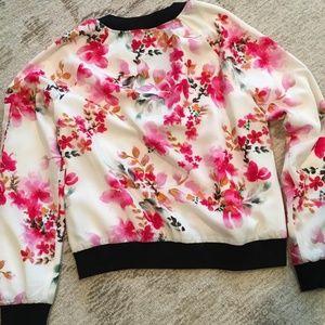 Sanctuary Flowered Bomber Jacket